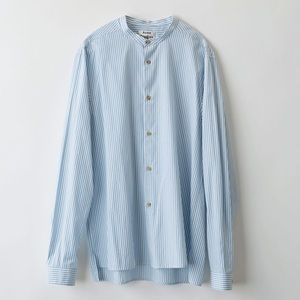 Acne Studios Pine Soft Poplin Blue Striped Shirt